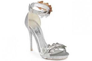 Alexander McQueen 'Ivy' metallic leather sandals