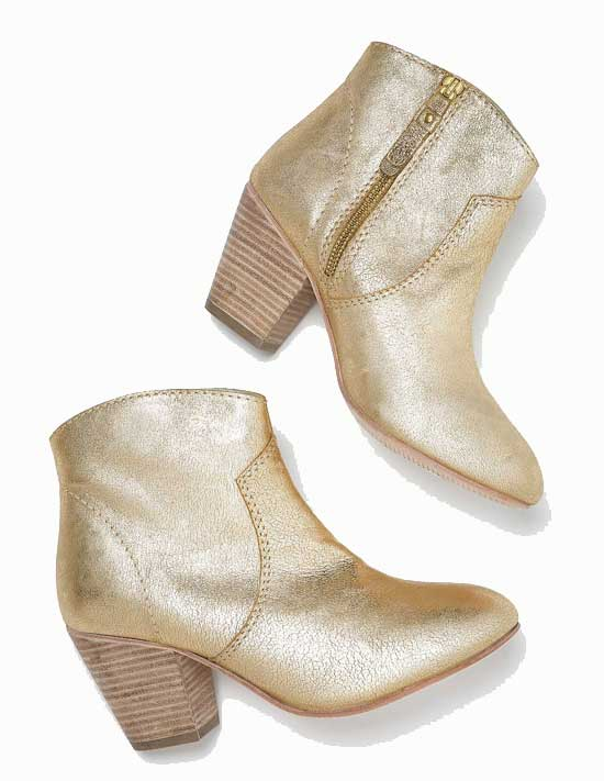 Boden Boo boots in gold
