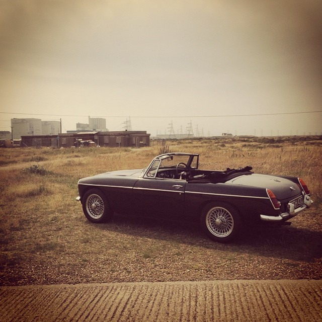 One from yesterday... #car #vintage #dungeness #kent #latergram