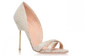 Kurt Geiger 'Beverley' glittered leather sandals