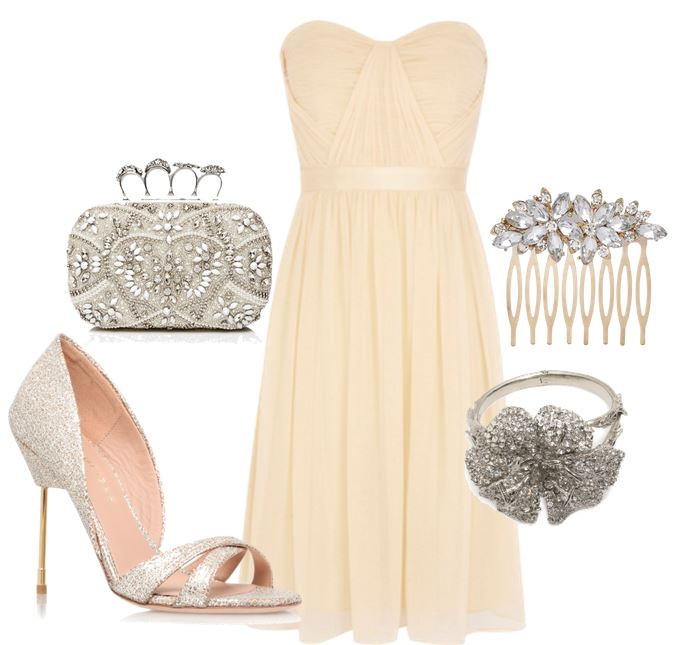 lemon dress and silver shoes