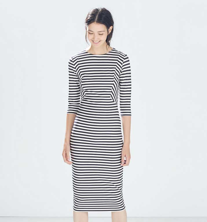 Zara striped dress, £25.99