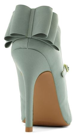 Qupid heel bow Mary Jane pumps