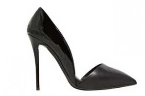 black pointed d'orsay pumps