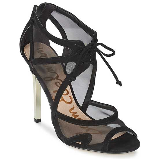 Sam Edleman Pompei black mesh sandals
