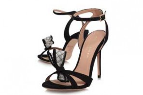 Shoe Kryptonite | Kurt Geiger Maia Bow black high heeled sandals