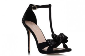 Carvela Kurt Geiger black 'Gondola' bow sandals