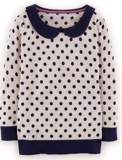 Boden spot collar jumper