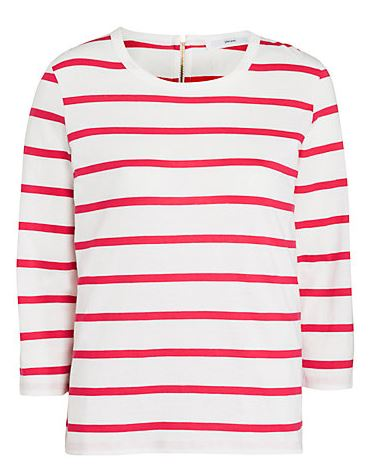 red Breton stripe top