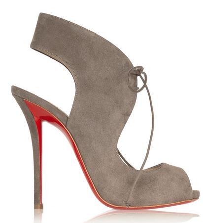 Christian Louboutin Allegra 120 cutout suede sandals