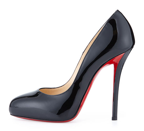 Christian Louboutin 'Argotik' Black Patent Pumps