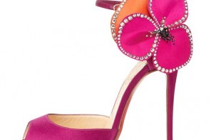 Friday Fix | Christian Louboutin Pensamoi Satin Rose sandals