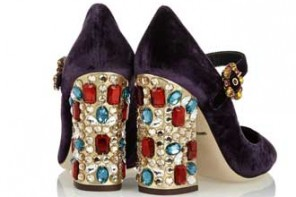 Dolce & Gabbana Vally crystal-embellished velvet pumps