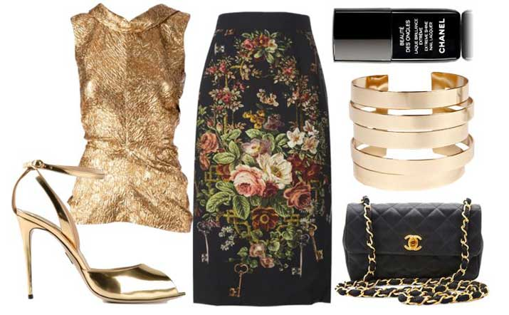what to wear with gold sandals