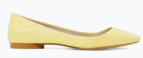 zara lemon yellow ballet flats