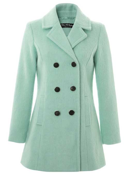 mint winter coat