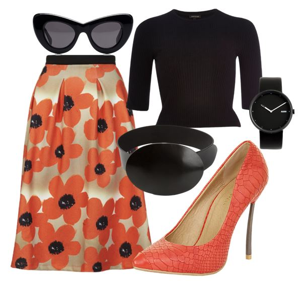 what to wear with orange shoes