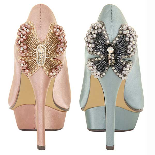 paper dolls butterfly heel pumps