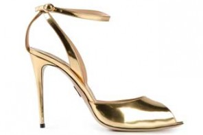 Paul Andrew gold peep toe sandals