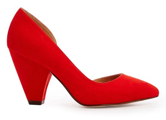 ASOS 'Sky Fit' red mid-height heels > Shoeperwoman