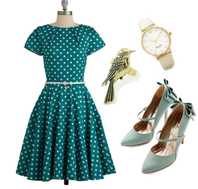 retro inspired outfit