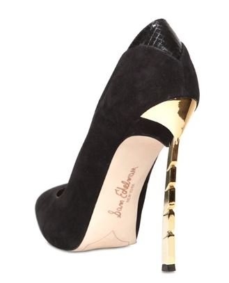 Sam Edelman metal heel suede pumps