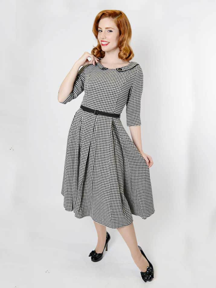 Collectif Ethel Houndstooth dress