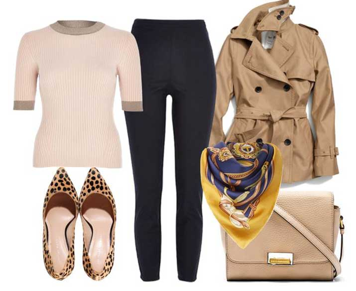 autumn outfit with cheetah print shoes