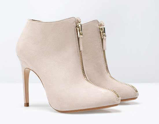 Gold Studded Boots Beige Ankle Boots With Gold
