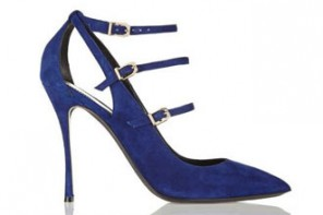 Nicholas Kirkwood blue suede point toe pumps