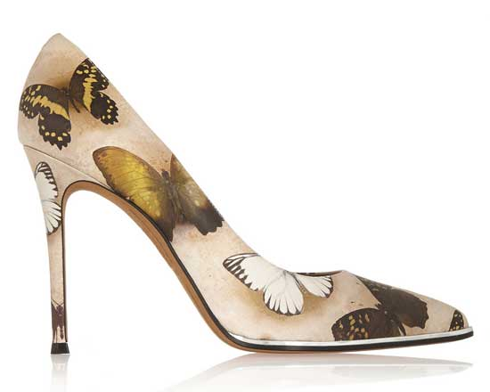 butterfly print pumps