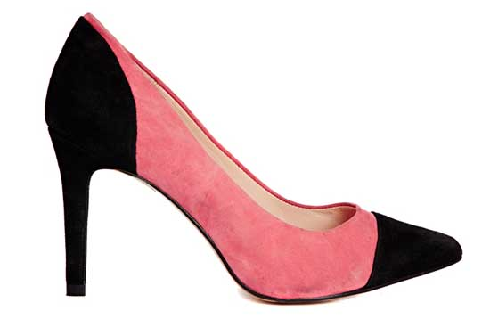 8d922db8ddc98 Ganni Audrey Two Tone Black and Pink Court Shoes