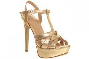 Office 'Show Stopper' gold platform sandals