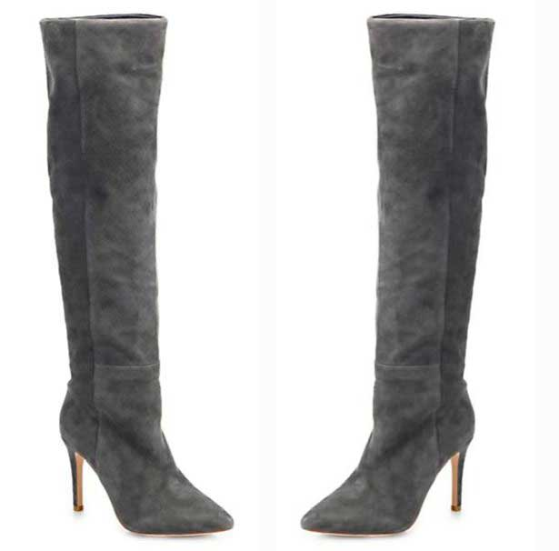 Joie 'Olivia' grey suede over-the-knee boots