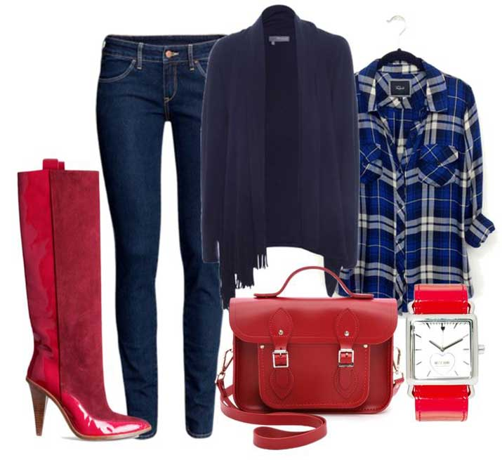 how to style red knee high boots