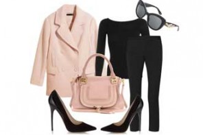 I wish I was wearing… black pants, pink coat, Jimmy Choos