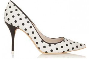 Polka dot shoes by Sophia Webster