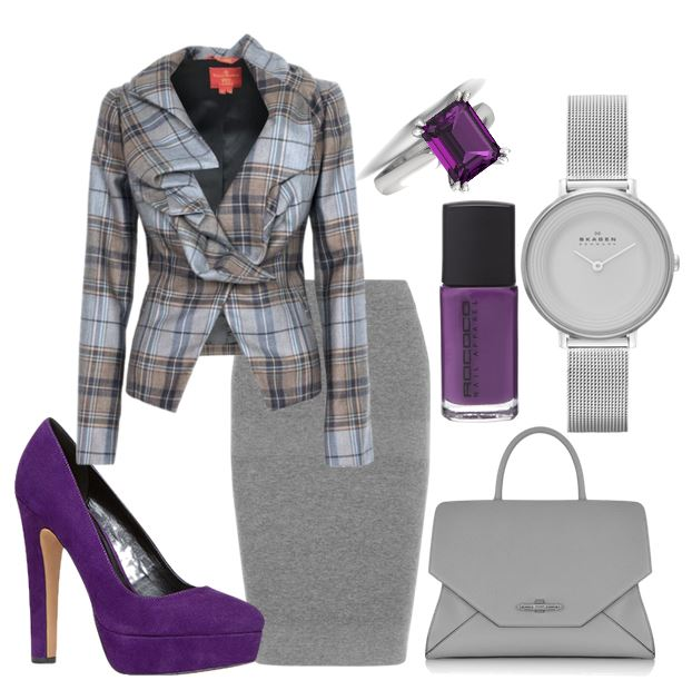 purple platform shoes and vivienne westwood jacket