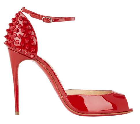 red Christian Louboutin spike sandals