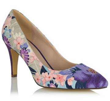 gardenia print court shoes