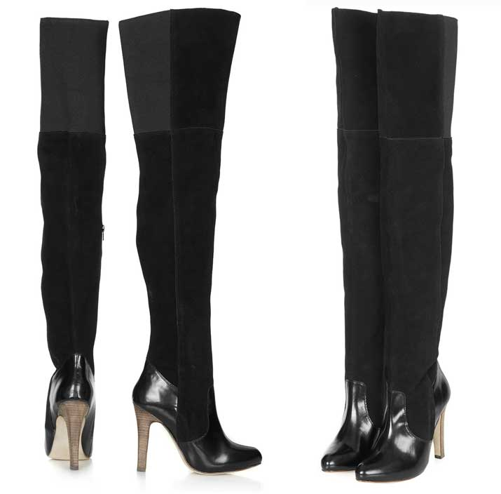 topshop unique thigh high black boots gt shoeperwoman