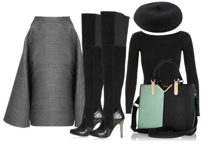 what to wear with thigh high boots