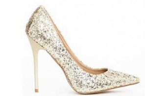 Party Shoes | Missguided 'Selena' gold glitter court shoes