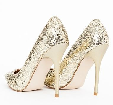 glitter pumps with high heels