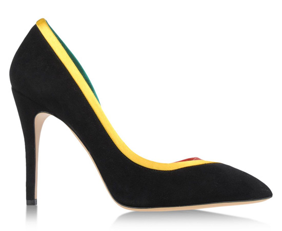 black high heel shoes by Charlotte Olympia