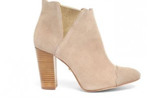 Cleo B neutral suede ankle boots