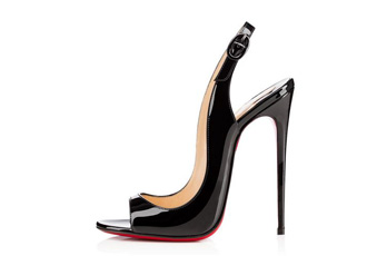 Christian Louboutin black slingbacks