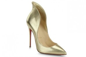 Friday Fix | Christian Louboutin Mea Culpa Metallic Leather High-Back Collar Pumps
