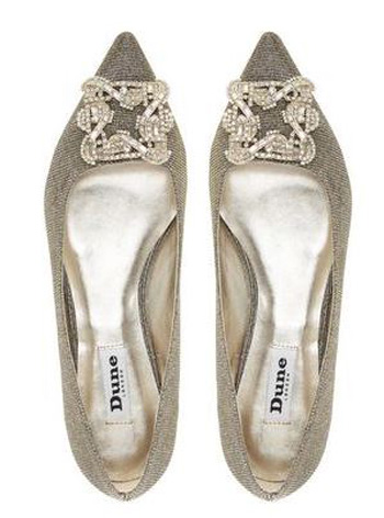 dune Briella pointed flats