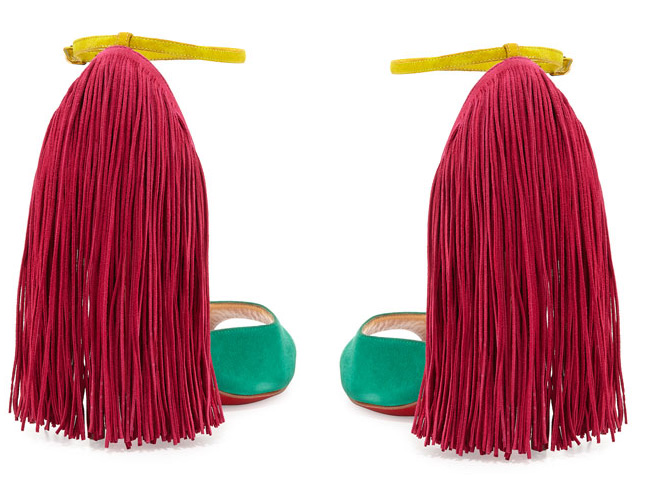 fringe heeled shoes